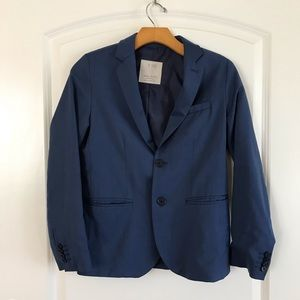 Zara Boys Blue Blazer Two Button Jacket